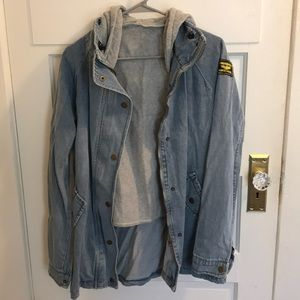 Removable lining jean jacket